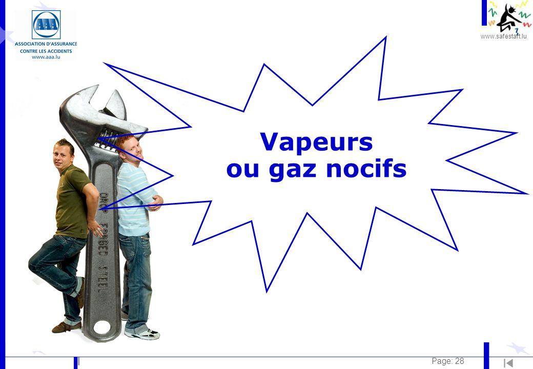 www.safestart.lu Page: 28 Vapeurs ou gaz nocifs