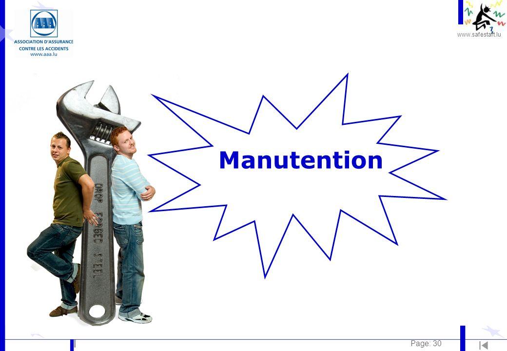 www.safestart.lu Page: 30 Manutention