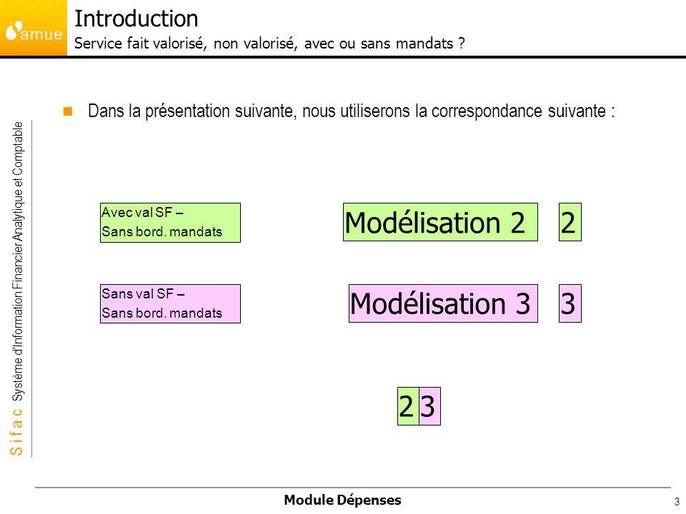S i f a c Système dInformation Financier Analytique et Comptable Module Dépenses 3 Introduction Service fait valorisé, non valorisé, avec ou sans mand