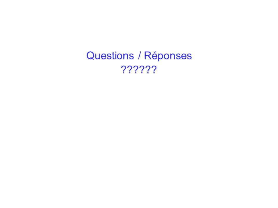 Questions / Réponses ??????
