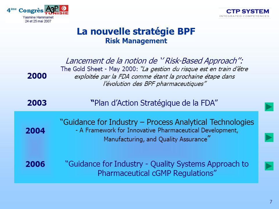 18 Outils pour les nouvelles BPF Statistique ICH Q8 – Developpement Pharmaceutique (Nov.
