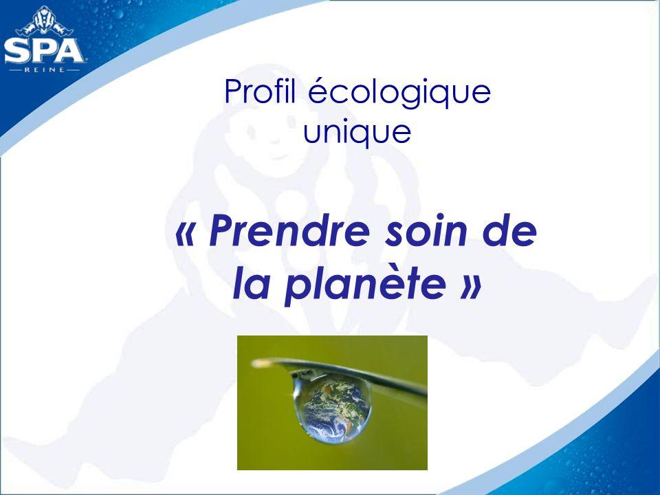 Profil écologique unique « Prendre soin de la planète »