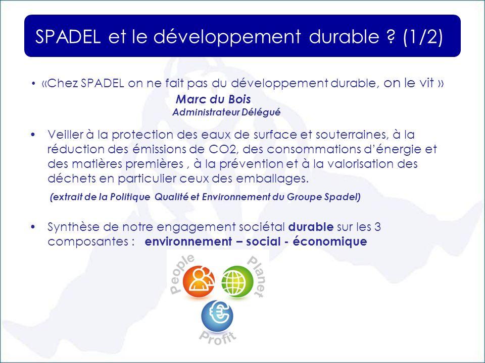 SPADEL et le développement durable .