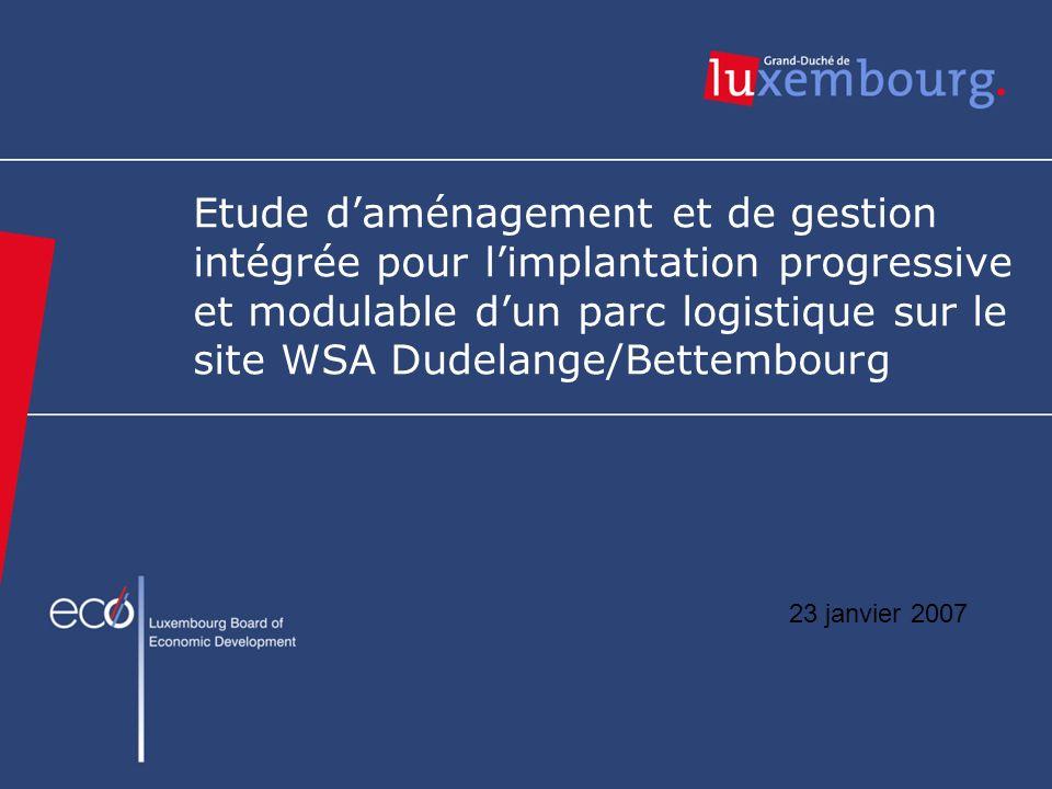Etude daménagement et de gestion intégrée pour limplantation progressive et modulable dun parc logistique sur le site WSA Dudelange/Bettembourg 23 jan