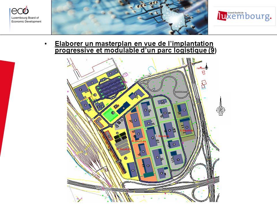 Elaborer un masterplan en vue de limplantation progressive et modulable dun parc logistique (9)