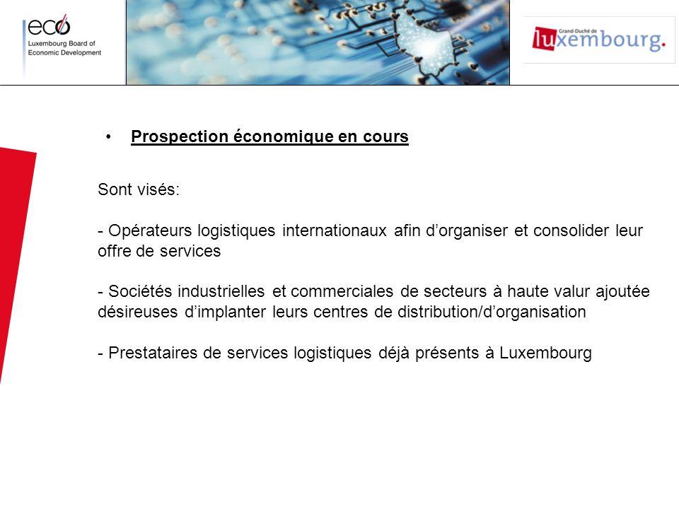 Prospection économique en cours Sont visés: - Opérateurs logistiques internationaux afin dorganiser et consolider leur offre de services - Sociétés in