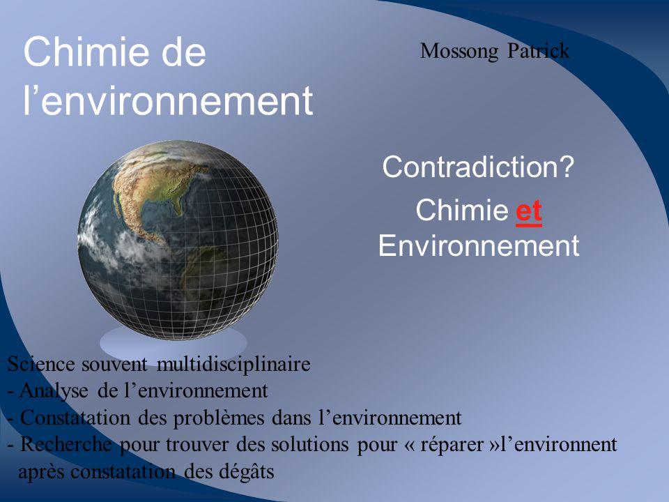 Chimie de lenvironnement Contradiction.