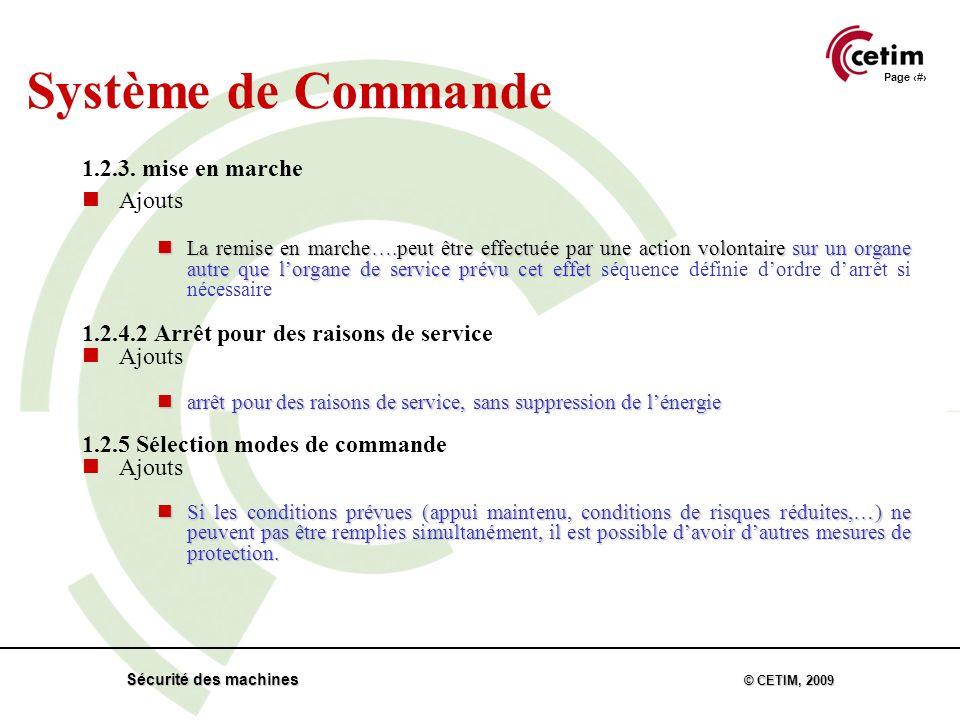 Page 24 Sécurité des machines © CETIM, 2009 1.2.3.