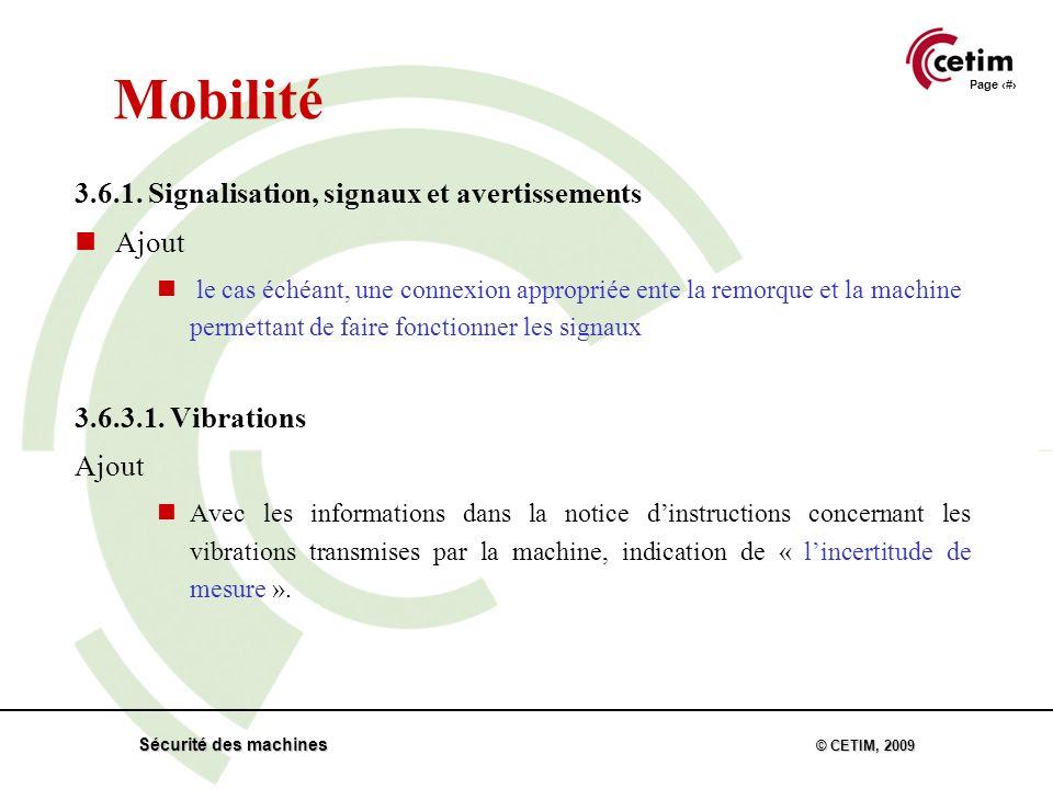 Page 31 Sécurité des machines © CETIM, 2009 Mobilité 3.6.1.