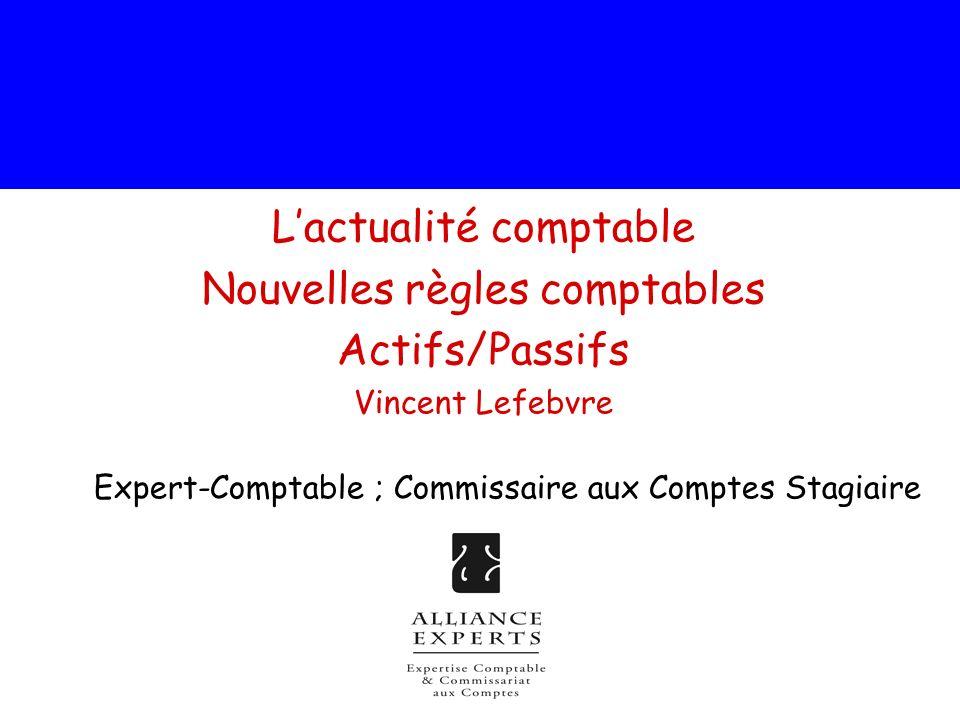 La réglementation comptable française sur les actifs comptabilisation des actifs : Lavis 2003-E du 09/07/03 du Comité durgence du CNC concernant les modalités de 1ère décomposition des actifs En matière de 1ère application de la comptabilisation des composants, lavis 2003-E du Comité durgence du CNC propose 3 méthodes dont 2 compatibles avec les normes IAS-IFRS* (§.3).