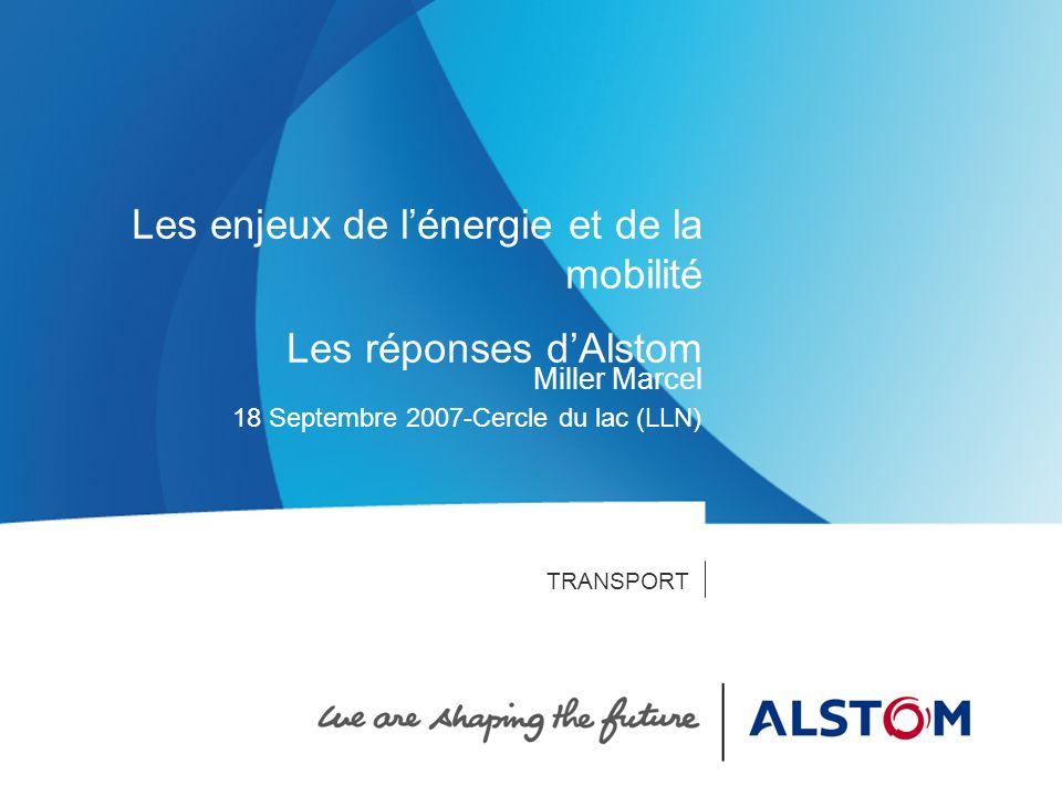 Alstom Belgium Transport - 31/07/2007 - P 12 Le Groupe Des technologies innovantes Préparer lavenir Augmentation significative des dépenses de R&D en 2006/07 (440 millions euros + 26%) A la pointe de la technologie -Power Systems : lancement de centrales pilotes pour la capture du CO2,… -Power Service: utilisation de la robotique,… -Transport: record du monde de vitesse sur rail, AGV, ERTMS,…