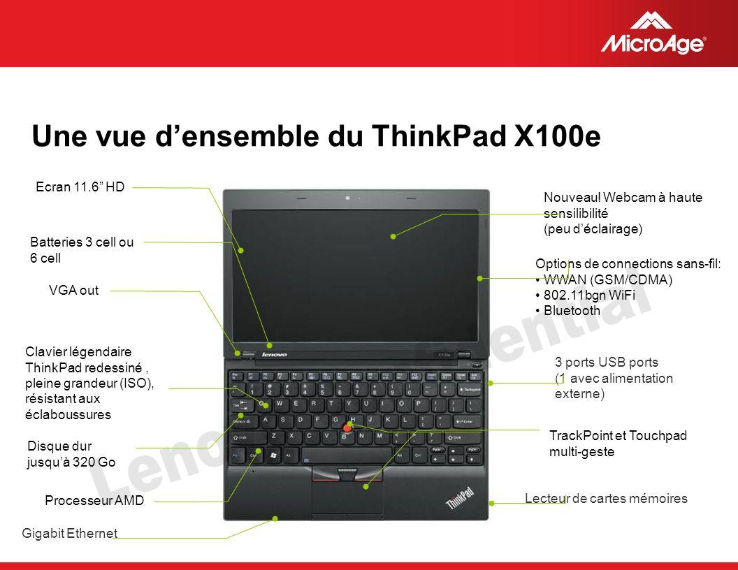 © 2006 MicroAge Une vue densemble du ThinkPad X100e Nouveau.