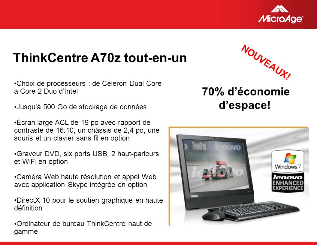 © 2006 MicroAge ThinkCentre A70z tout-en-un NOUVEAUX.