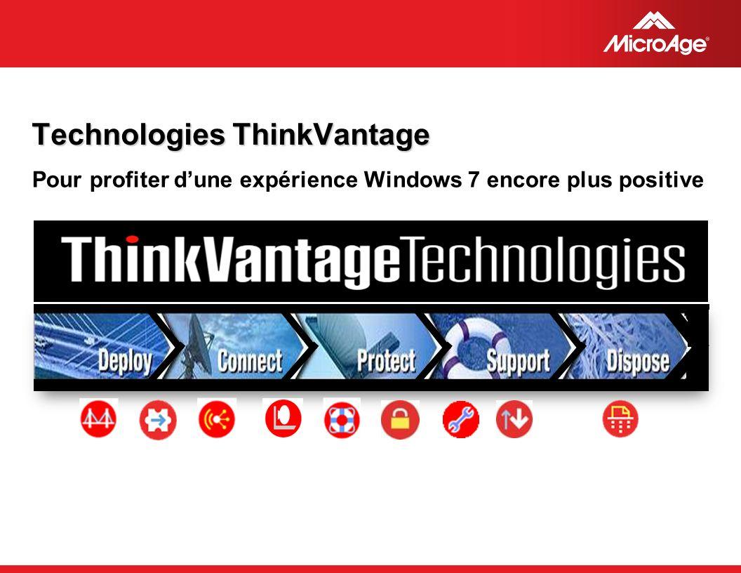 © 2006 MicroAge Technologies ThinkVantage Pour profiter dune expérience Windows 7 encore plus positive