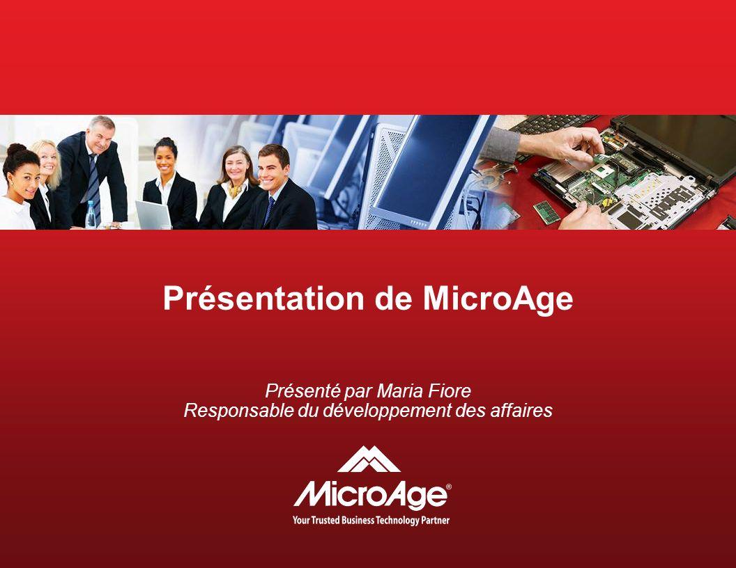 Présentation de MicroAge Présenté par Maria Fiore Responsable du développement des affaires