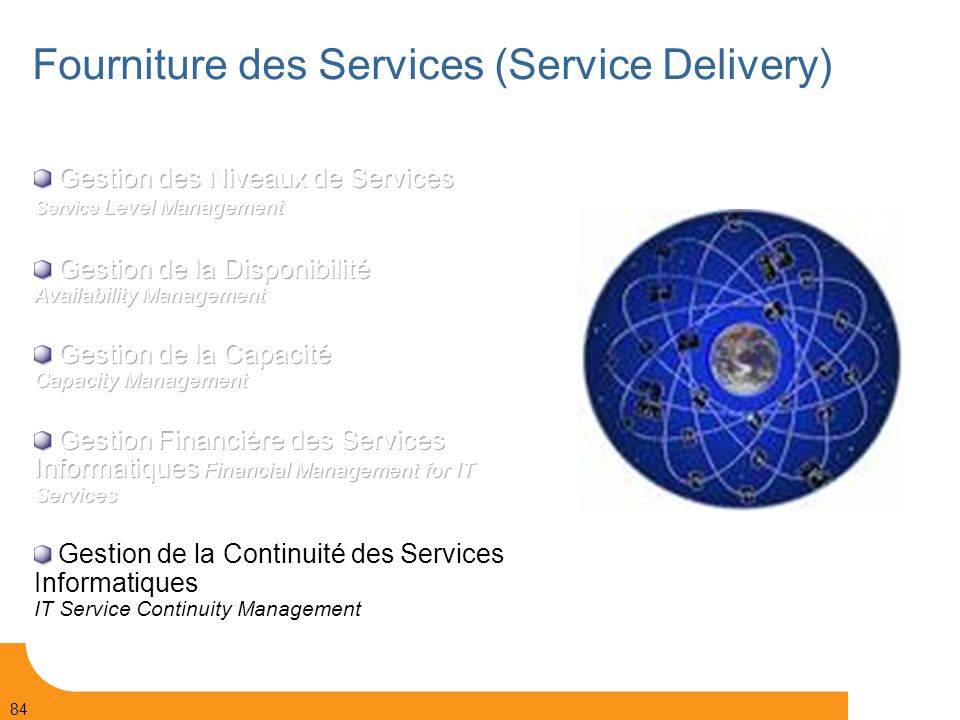 Page 84 © Bull 2006 84 Fourniture des Services (Service Delivery)
