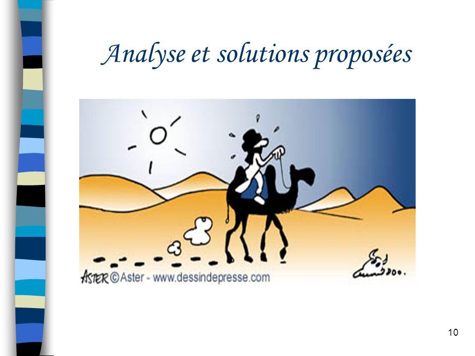 10 Analyse et solutions proposées