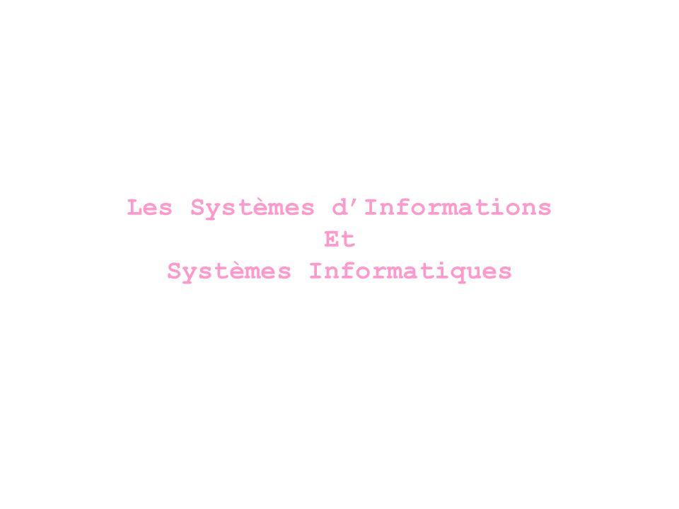 Informatio n Applicatifs Base de données Matériel Architecture…