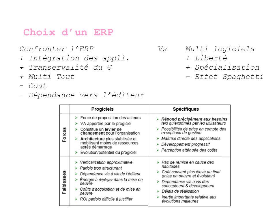 Mise en place dun ERP Analyser les processus existants Définir les améliorations et nouveaux objectifs Projet Informatique comme un autre.