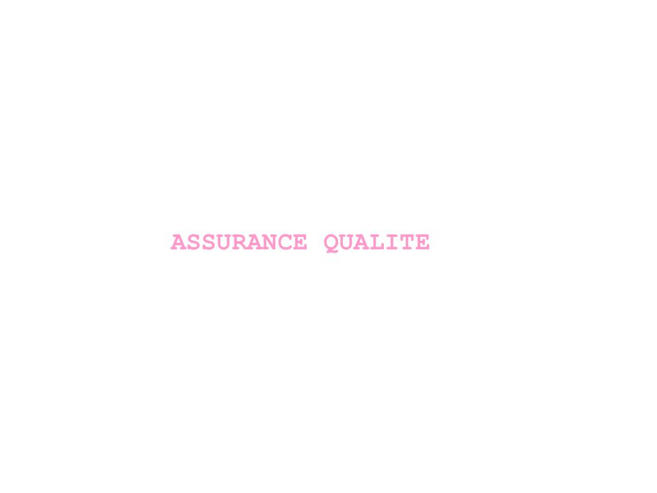 L Assurance Qualité Elle est l apanage de la DSI (Management) Définitions : – LAssurance de la qualité est la capacité de l entreprise à prouver objectivement qu elle a mis en place une organisation efficace, qui permet de fournir des produits ou services de qualité conformes aux exigences spécifiées contractuellement.