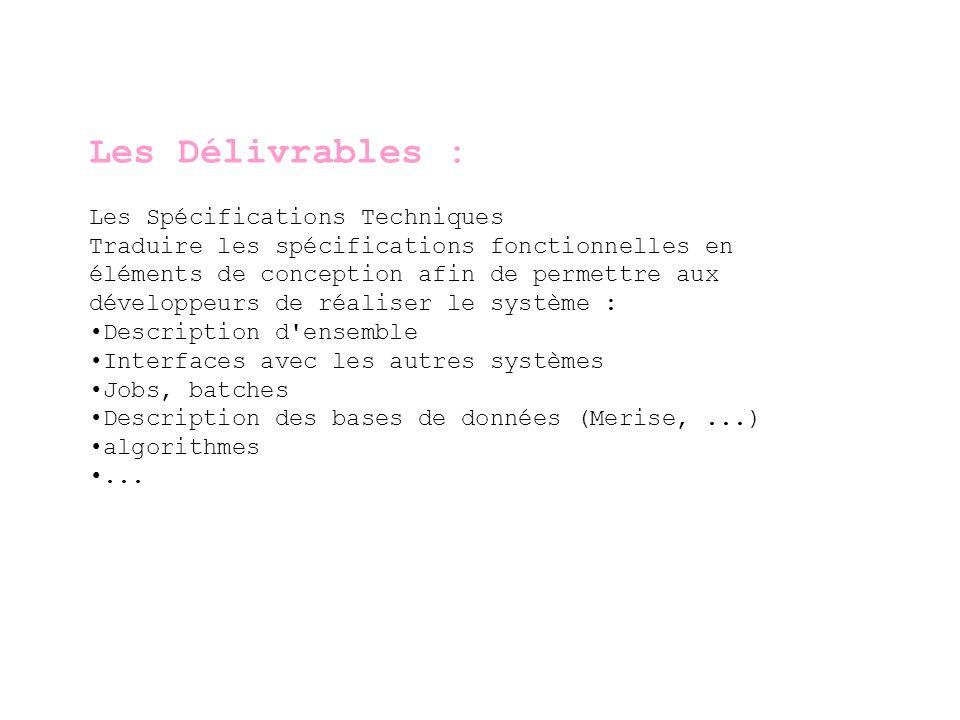 Les Délivrables La revue de code source (1/2) Dans certaines société, il peut exister des standards de programmation qui définissent par exemple : Des standards de nommage des standards d annotation etc.