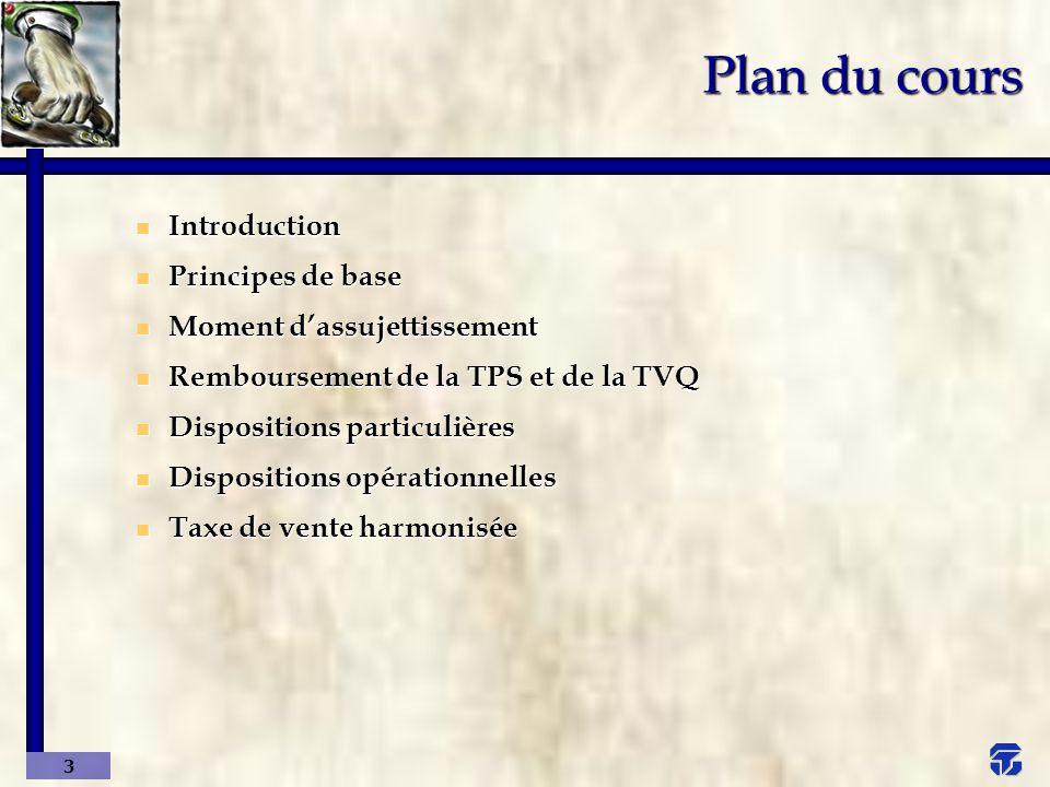 4 Introduction u La TPS et la TVQ en bref u Vue d ensemble u Illustration – TPS u Illustration – TVQ