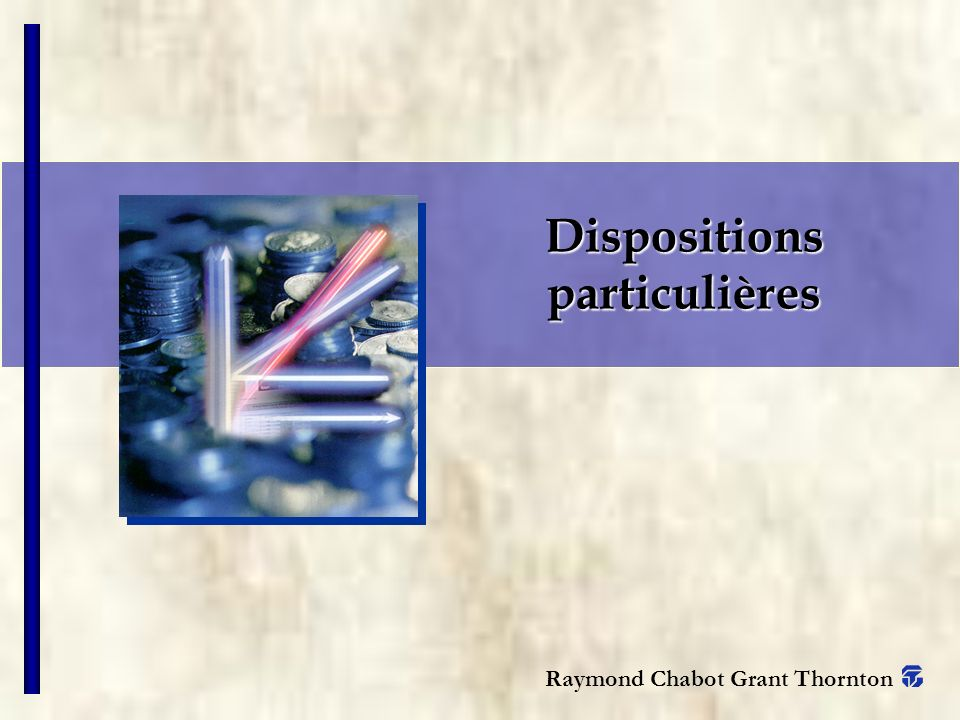 Raymond Chabot Grant Thornton Dispositions particulières