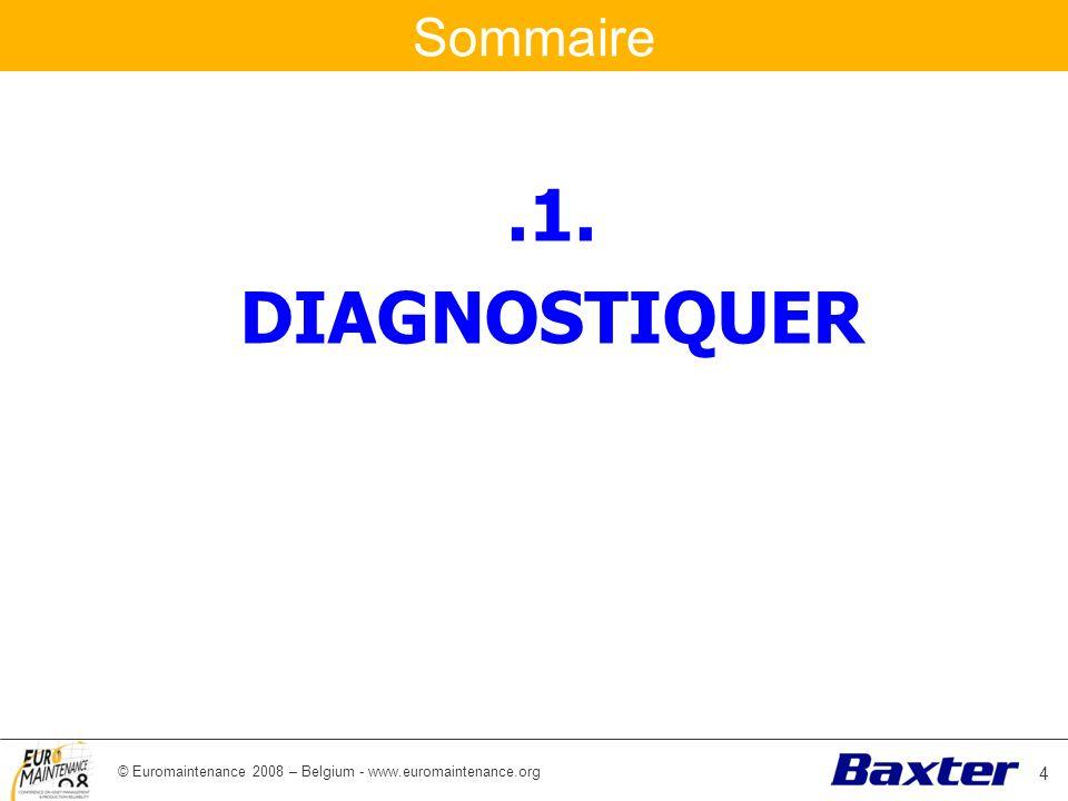 © Euromaintenance 2008 – Belgium - www.euromaintenance.org Sommaire.1. DIAGNOSTIQUER 4