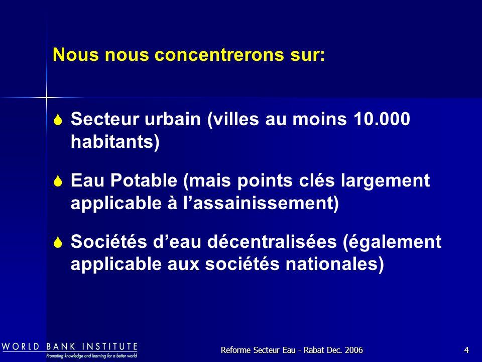 Reforme Secteur Eau - Rabat Dec.
