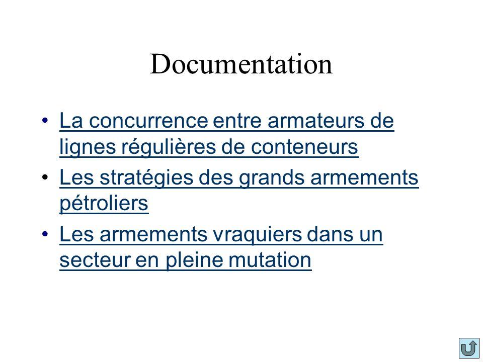 Documentation La concurrence entre armateurs de lignes régulières de conteneursLa concurrence entre armateurs de lignes régulières de conteneurs Les s