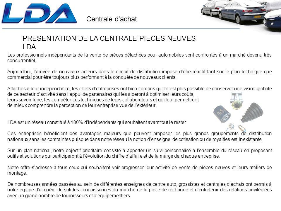 Centrale dachat PRESENTATION DE LA CENTRALE PIECES NEUVES LDA.