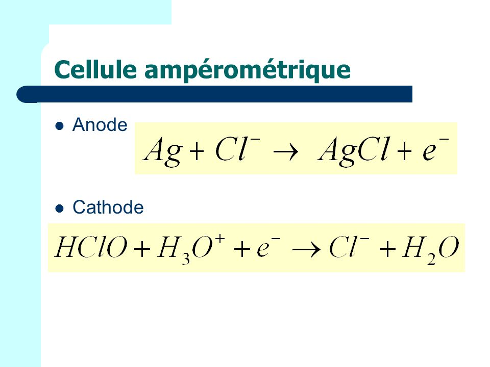 Cellule ampérométrique Anode Cathode