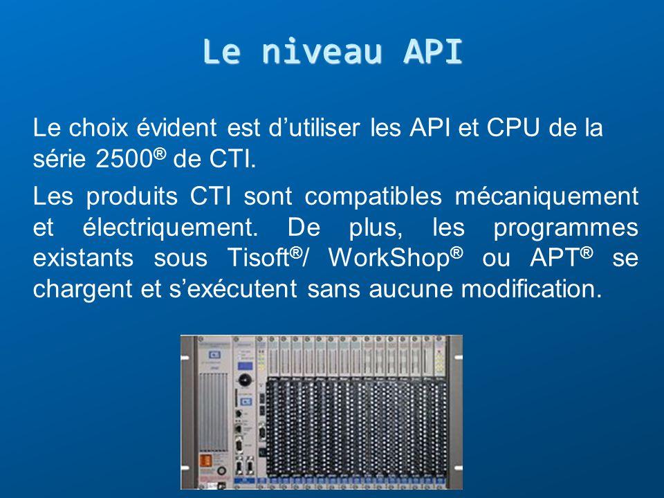 Le choix évident est dutiliser les API et CPU de la série 2500 ® de CTI. Les produits CTI sont compatibles mécaniquement et électriquement. De plus, l