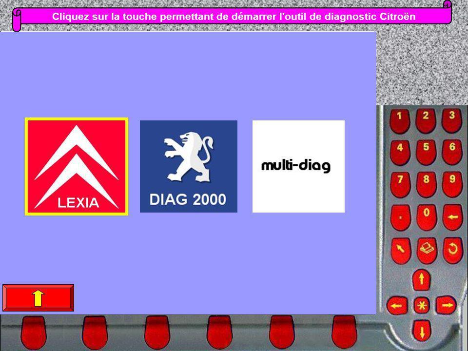 Cliquez sur la touche permettant de démarrer l'outil de diagnostic Citroën