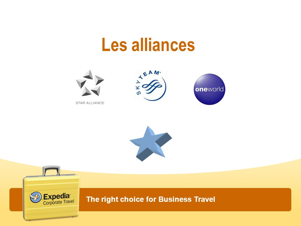 Les alliances The right choice for Business Travel