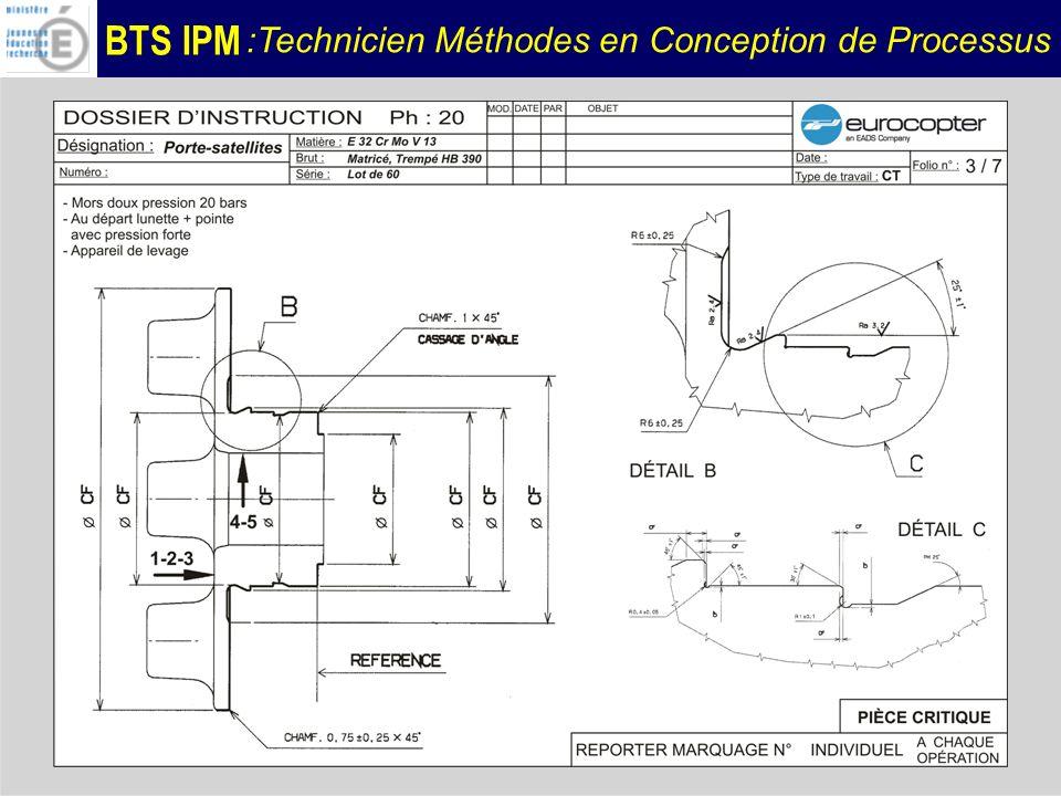 BTS IPM :Technicien Méthodes en Conception de Processus