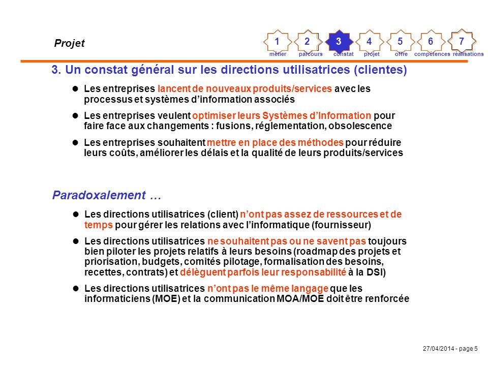27/04/2014 - page 5 Projet 3.
