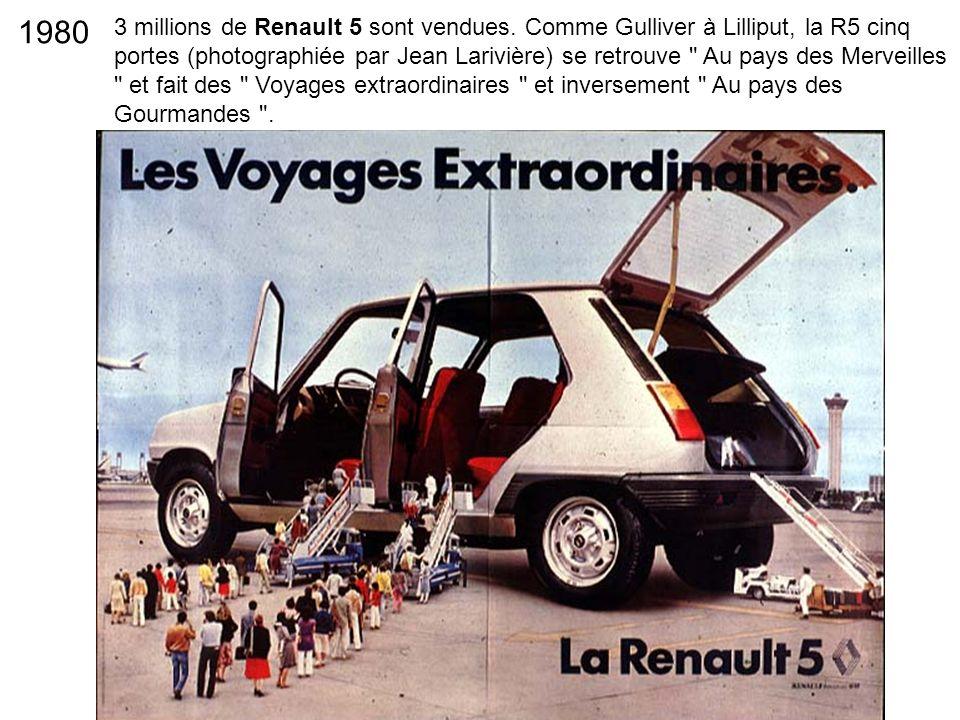 3 millions de Renault 5 sont vendues. Comme Gulliver à Lilliput, la R5 cinq portes (photographiée par Jean Larivière) se retrouve
