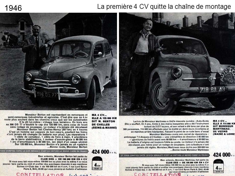 1946 La première 4 CV quitte la chaîne de montage