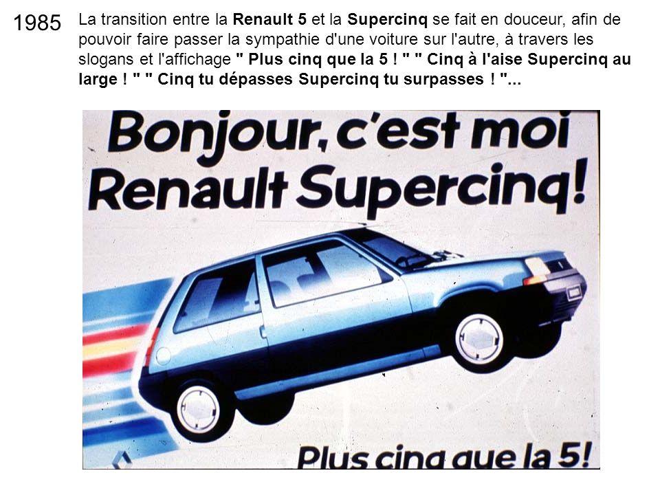 La transition entre la Renault 5 et la Supercinq se fait en douceur, afin de pouvoir faire passer la sympathie d'une voiture sur l'autre, à travers le