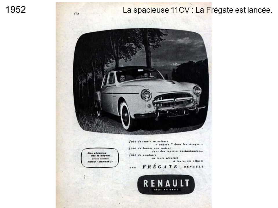 1952 La spacieuse 11CV : La Frégate est lancée.