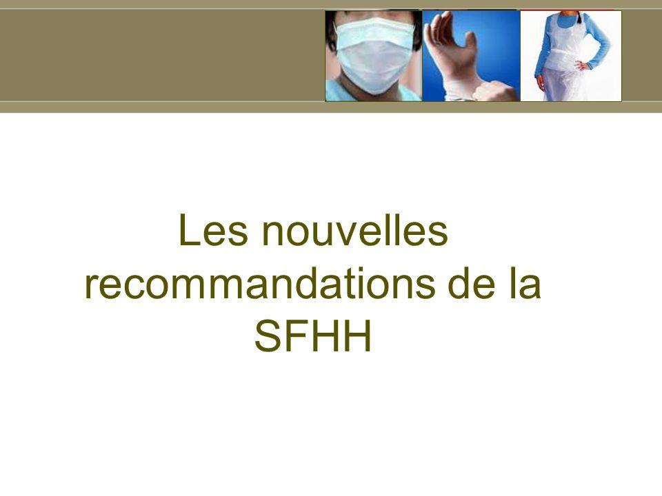 Les nouvelles recommandations de la SFHH