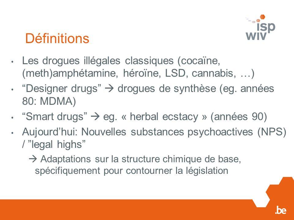 Case-study 2: « Spice » Les services douaniers saisissent régulièrement des grandes quantités des cannabinoïdes de synthèse (plusieurs kilogrammes) Origine: la Chine Le destinataire est un résident belge En Belgique: Réception des produits chimiques venant de la Chine Mélange des produits chimiques avec des herbes Emballage Exportation