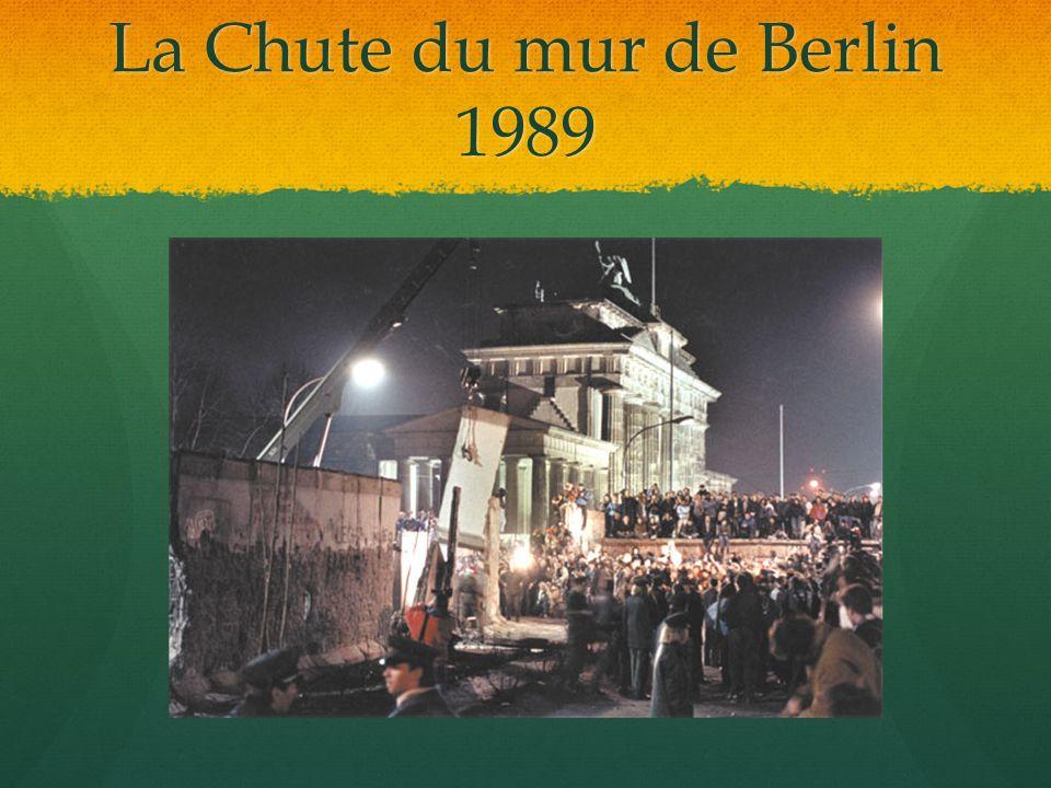 La Chute du mur de Berlin 1989