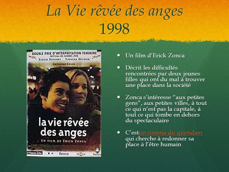 La Vie rêvée des anges 1998 Un film dErick Zonca Un film dErick Zonca Décrit les difficultés rencontrées par deux jeunes filles qui ont du mal à trouv