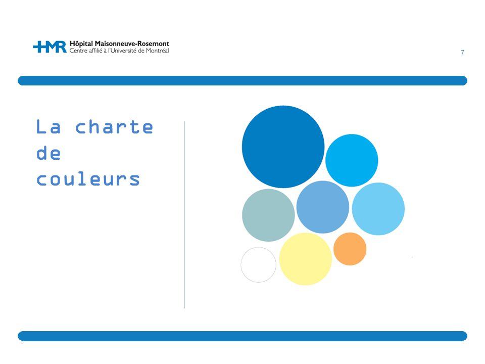 7 La charte de couleurs