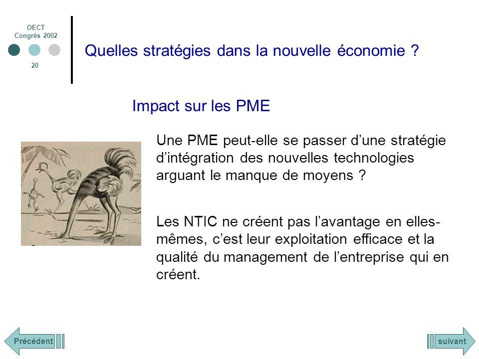 OECT Congrès 2002 20 Quelles stratégies dans la nouvelle économie .