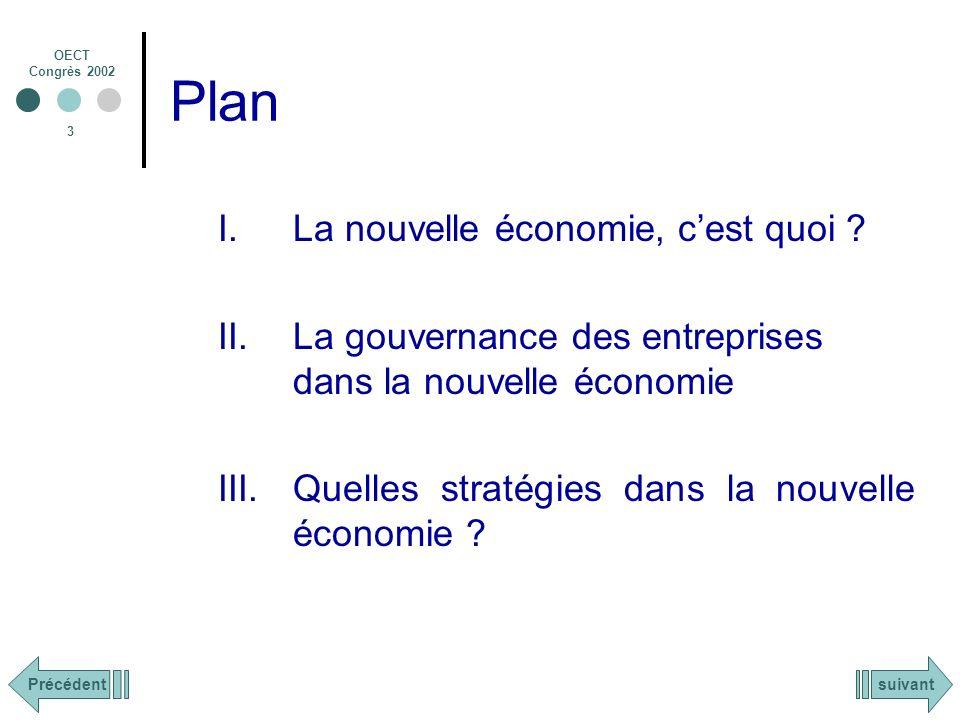 OECT Congrès 2002 24 Quelles stratégies dans la nouvelle économie .