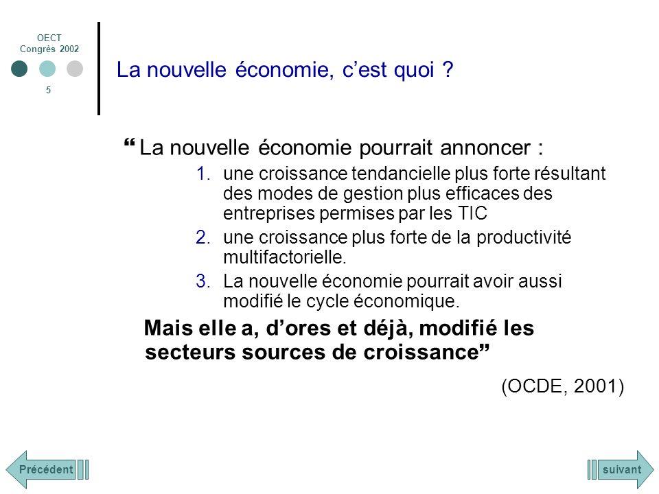 OECT Congrès 2002 26 Conclusion : La nouvelle économie : Source dopportunités / Source de menaces.