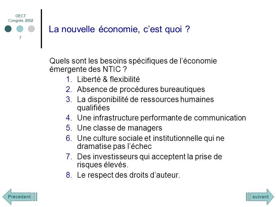OECT Congrès 2002 8 La nouvelle économie, cest quoi .